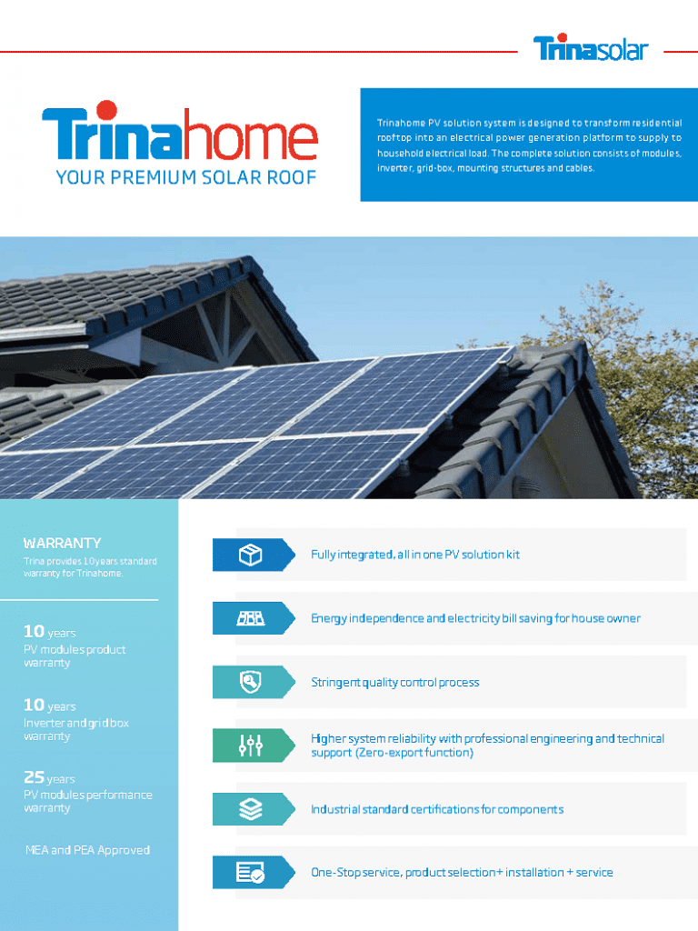 TRINAhome solar package