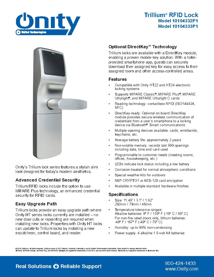 Digital door lock Spec